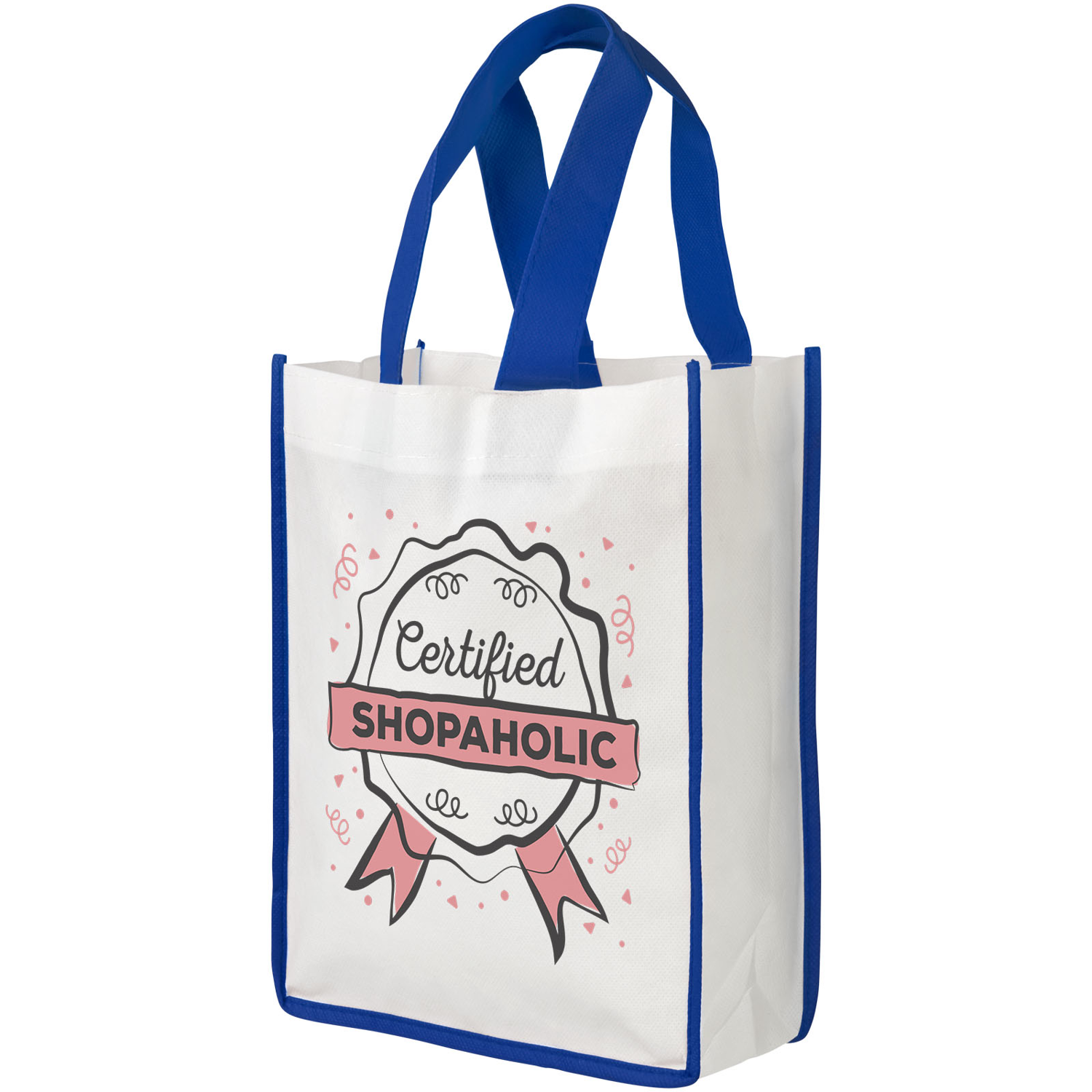 Contrast Small Non-Woven Shopping Tote Bag