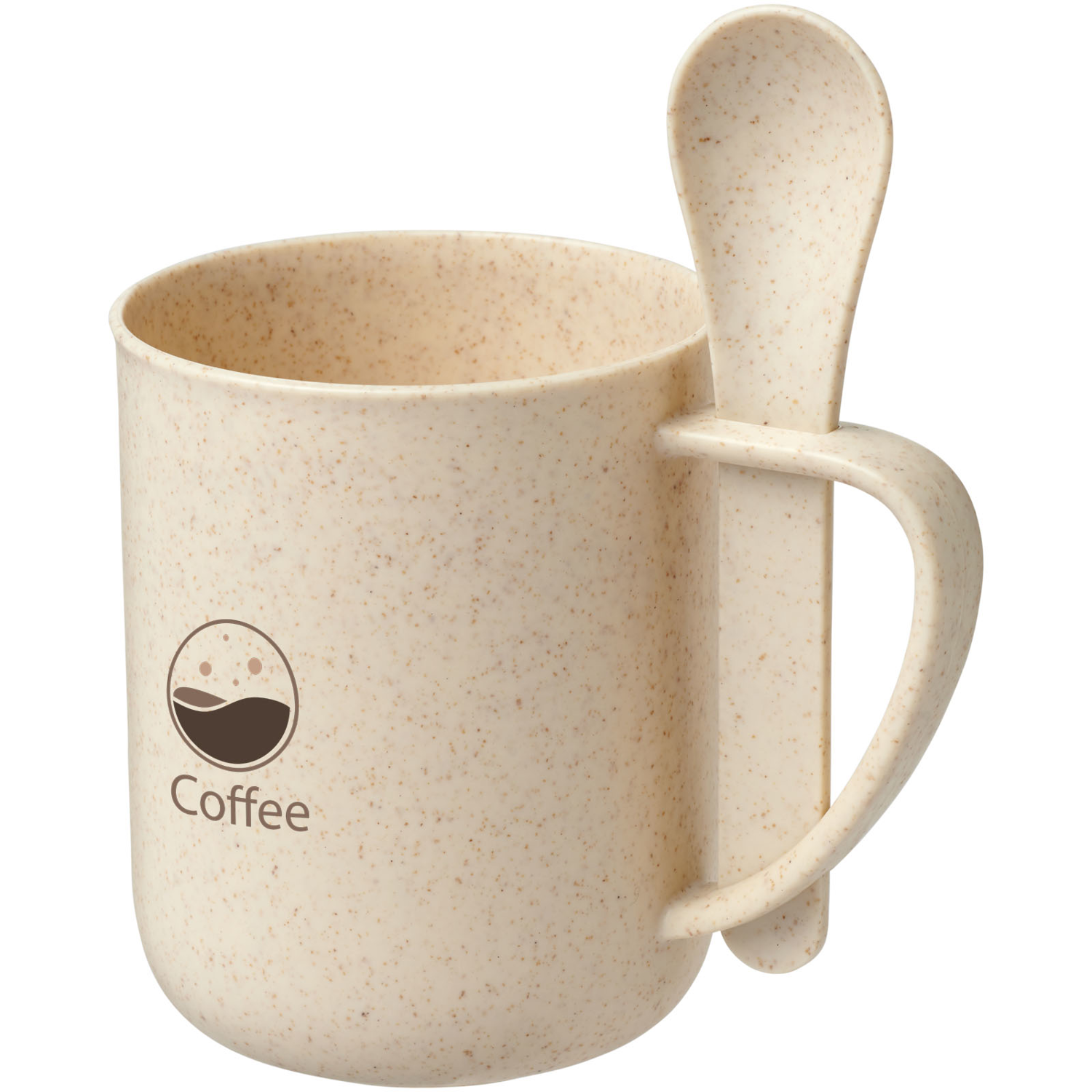 Rye 420 Ml Wheat Straw Mug With Spoon