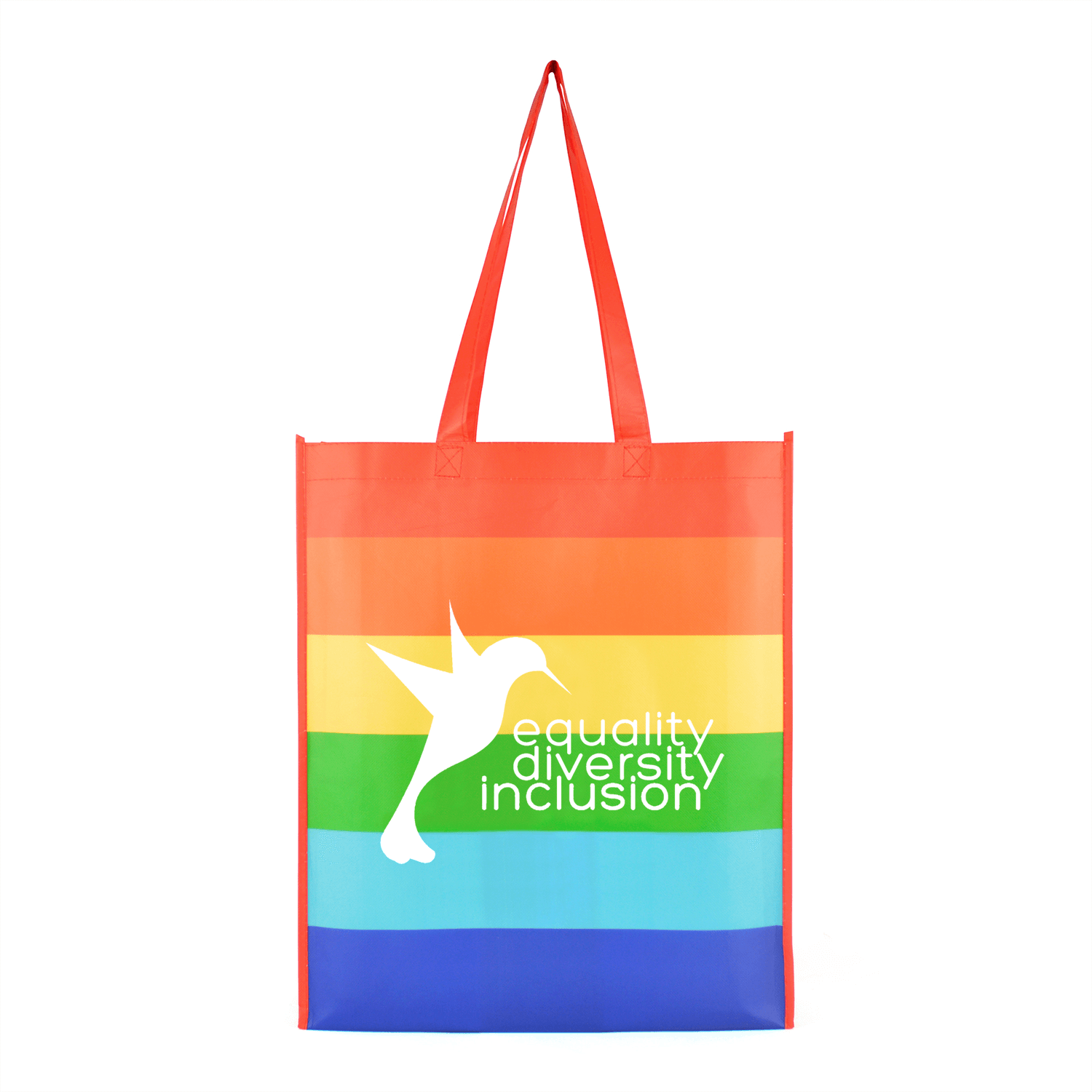 Non-Woven Rainbow Shopper Bag