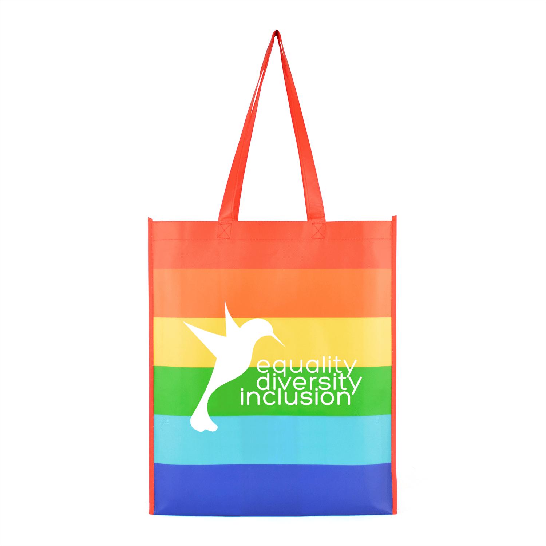 Printed Non-Woven Rainbow Shopper Bag