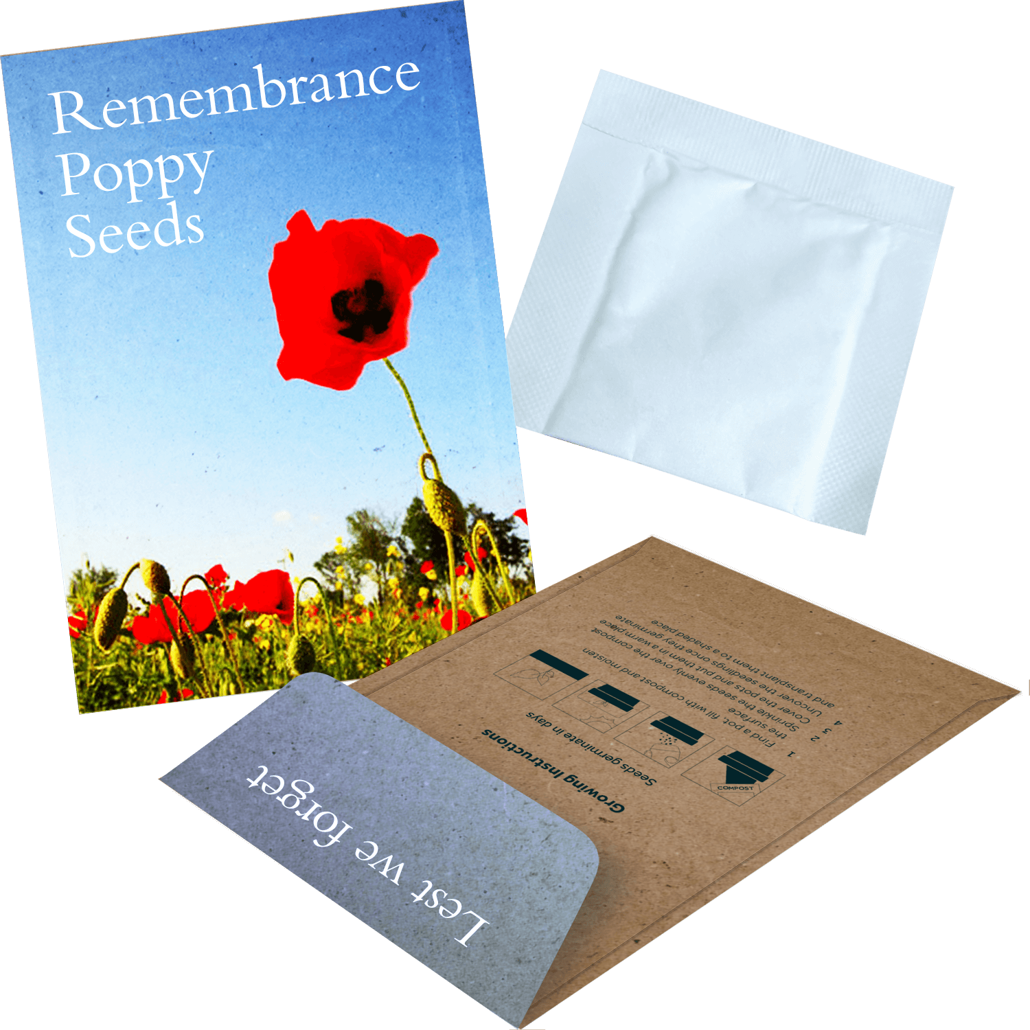 Promotional Seed Envelopes - Flowers
