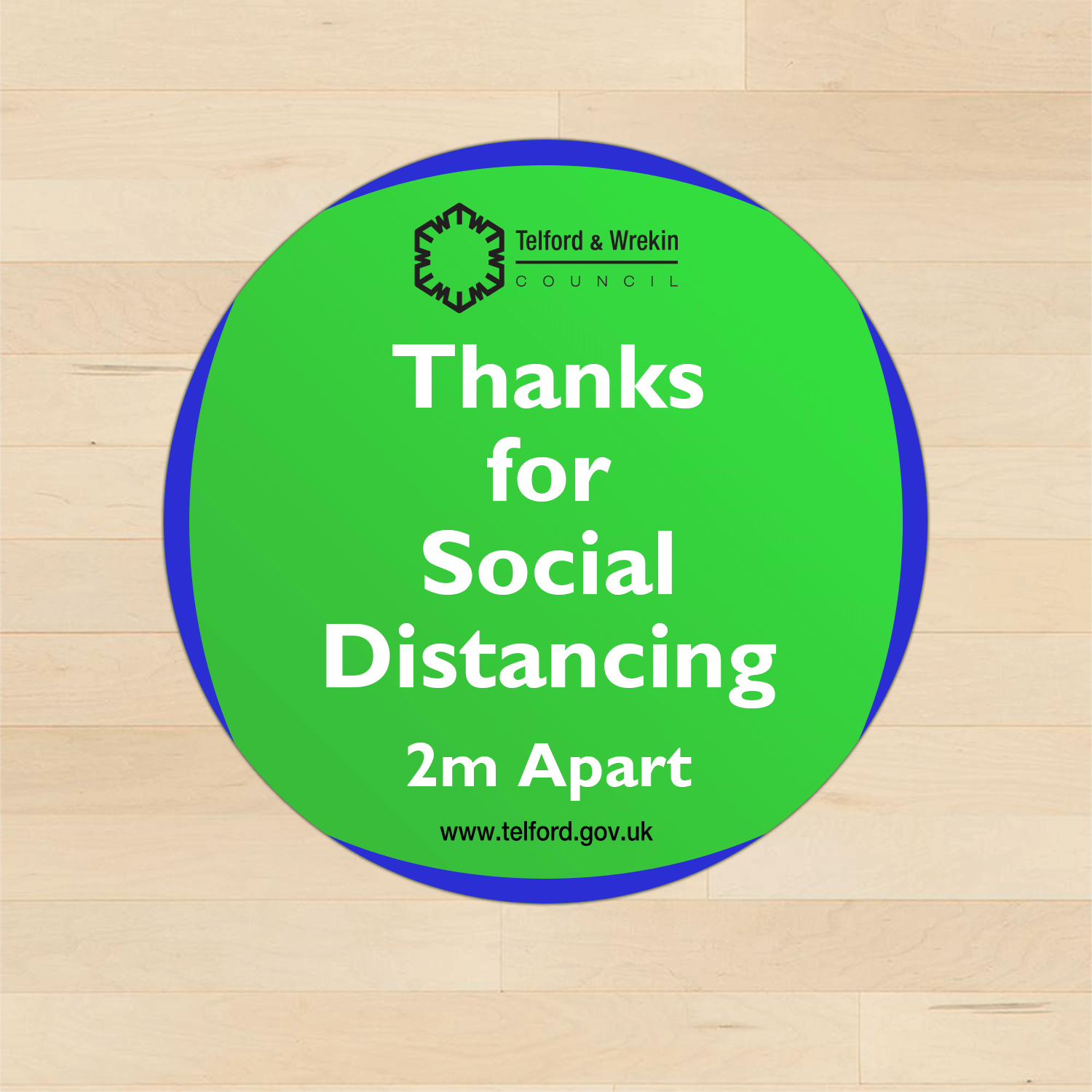 Social Distancing Vinyl Floor Stickers