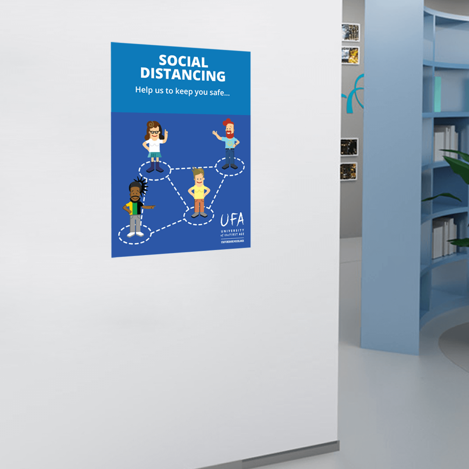 Social Distancing Wall Stickers - A3