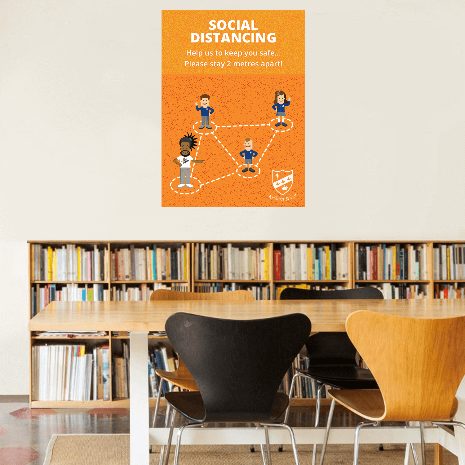 Social Distancing Wall Stickers - A2