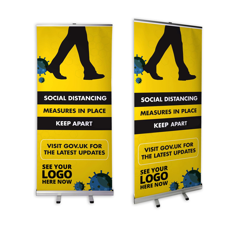 Social Distancing Roller Banner - Standard Design