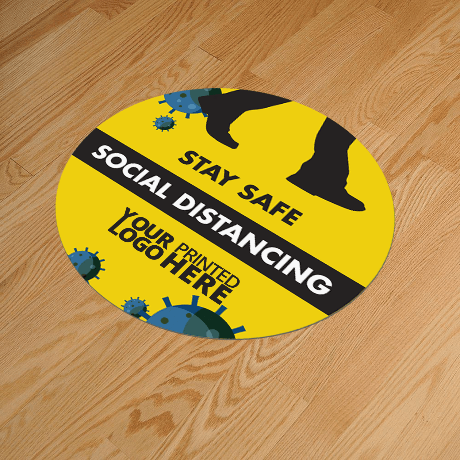 Social Distancing 400mm Round Anti-Slip Floor Sticker