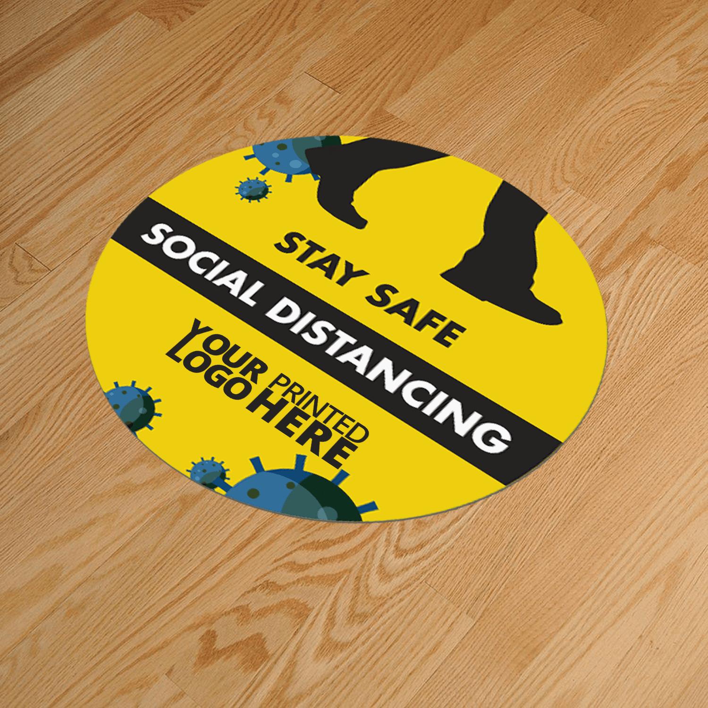 Social Distancing Round 400mm Anti-Slip Floor Sticker