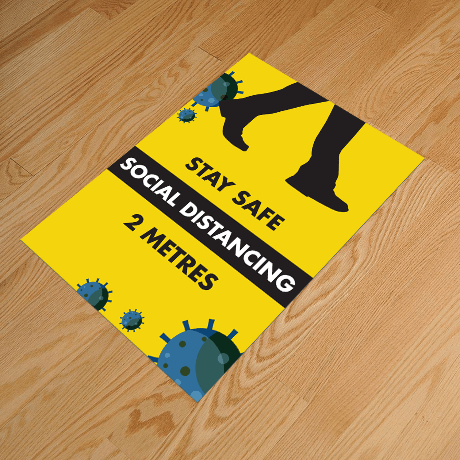 Social Distancing A3 Anti-Slip Floor Sticker