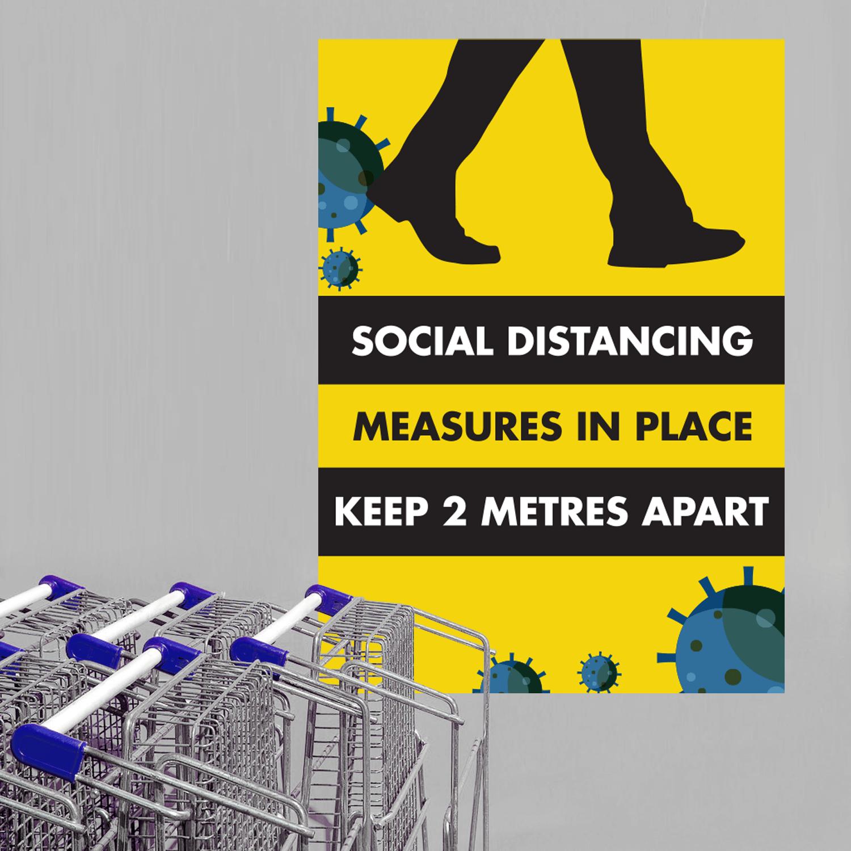 XL Social Distancing Polyprop Posters - A1