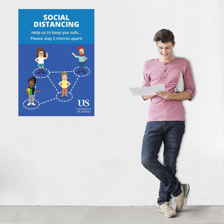 XL Social Distancing Posters - A1
