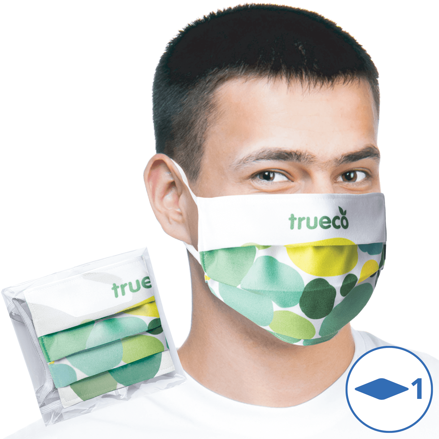 Printed Reusable Face Masks - Pleated Style
