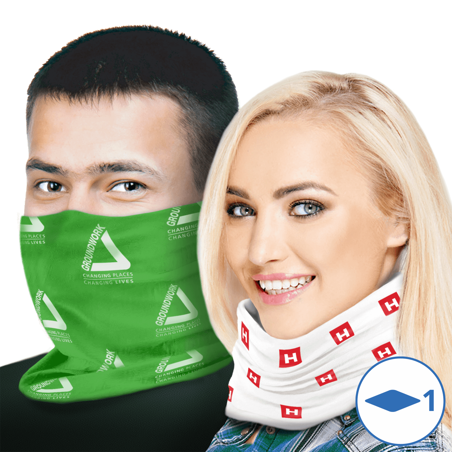 Printed Preventive Face Scarf