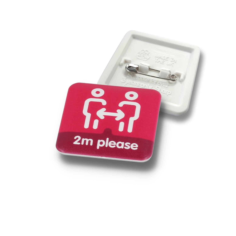 37mm Square - Standard Design