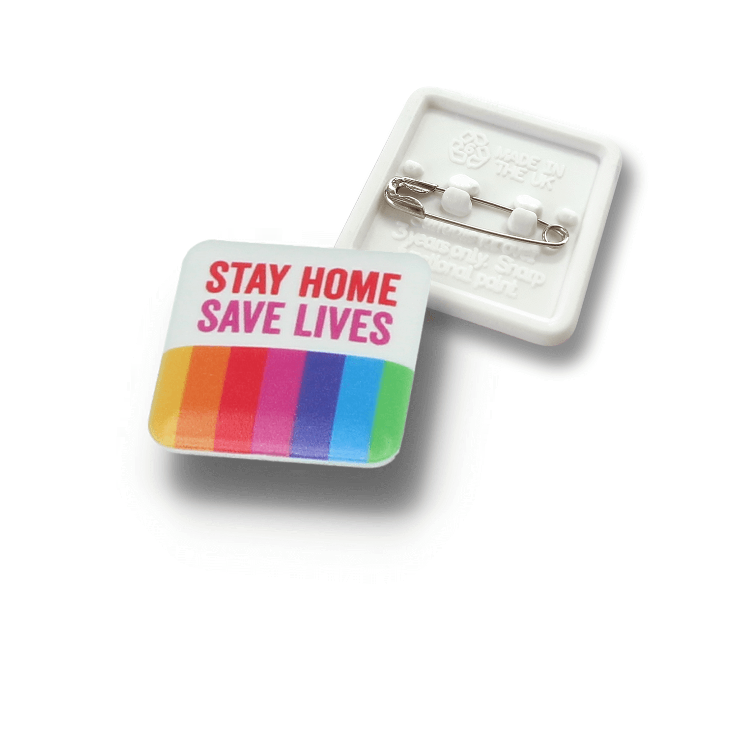 25mm Social Distancing Recycled Plastic Button Badges
