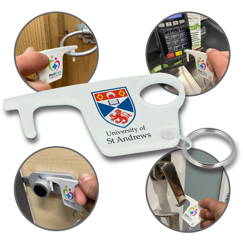 100% Recycled Plastic Hygiene Hook Keyrings