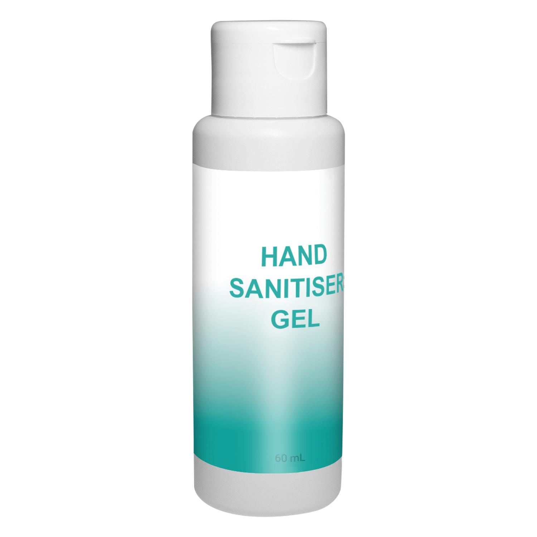 Printed 60ml Hand Sanitiser Gel 60% Alcohol