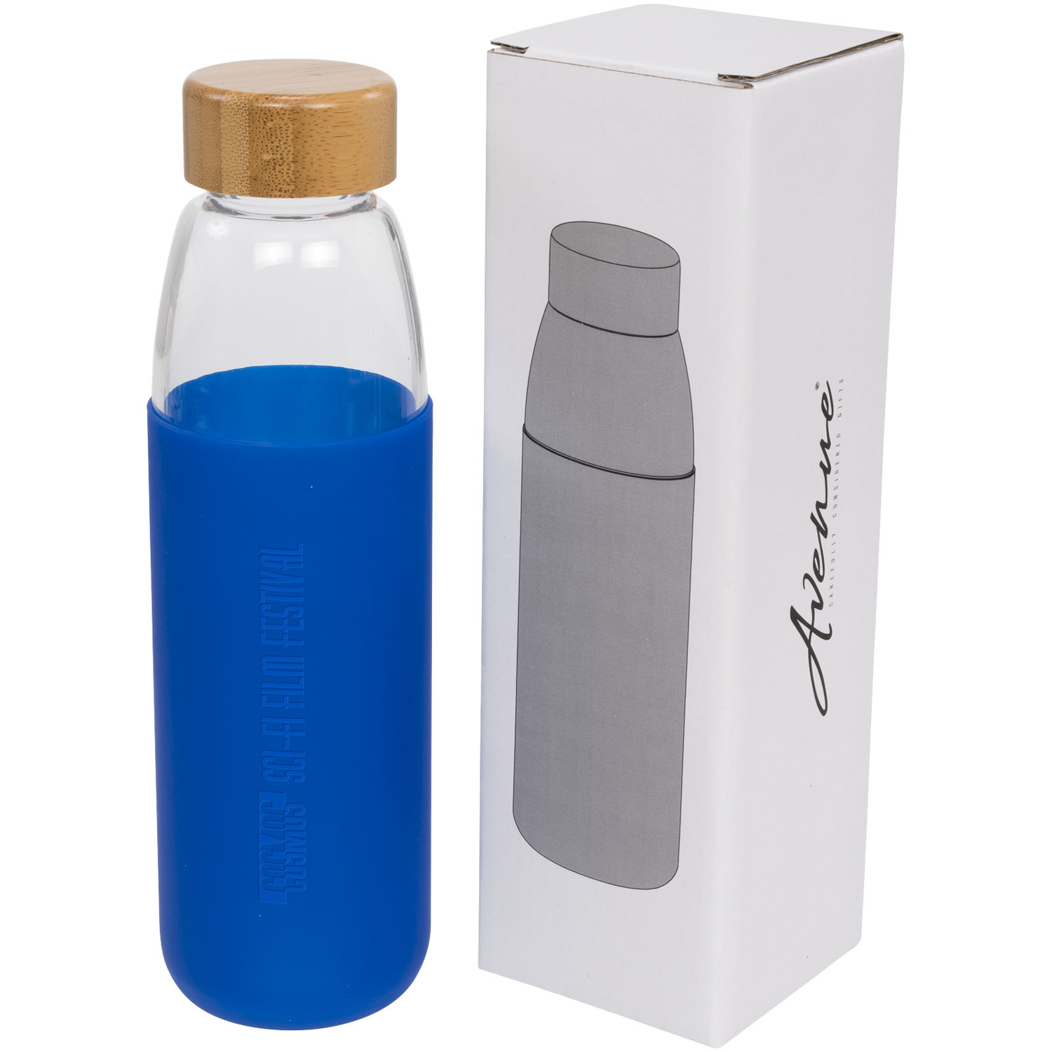 Kai 540 Ml Glass Sport Bottle With Wood Lid