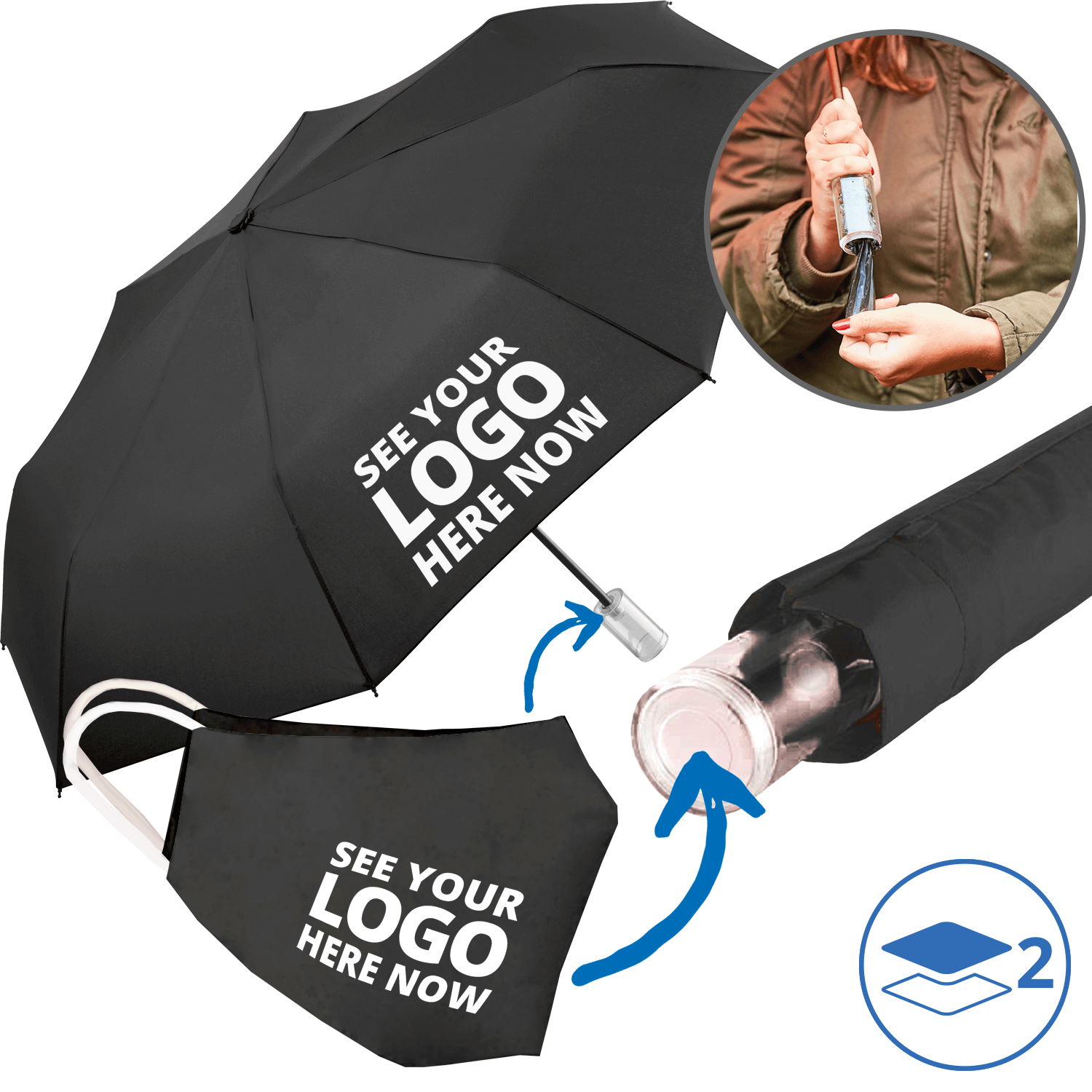 Branded Mask and Umbrella Combo