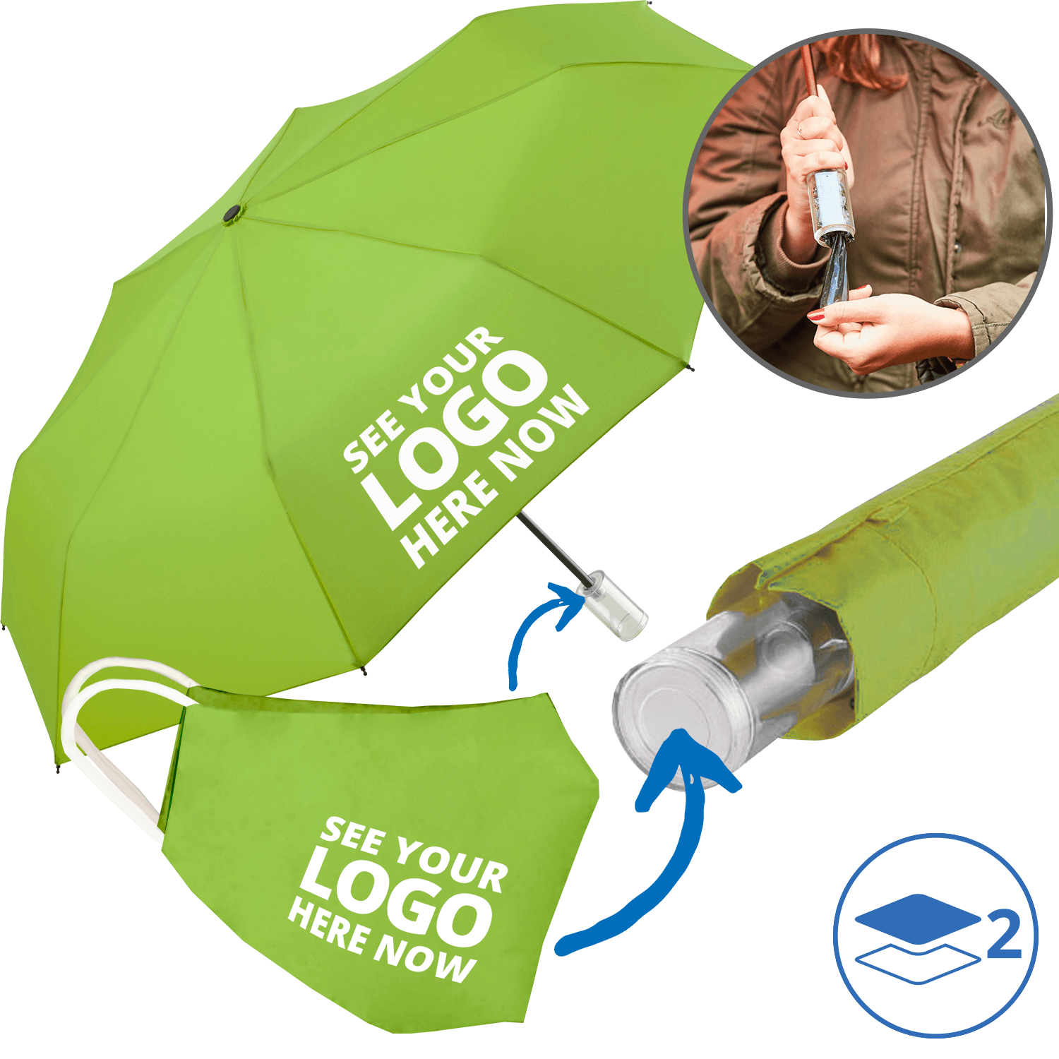 Umbrella and Branded Mask Combo