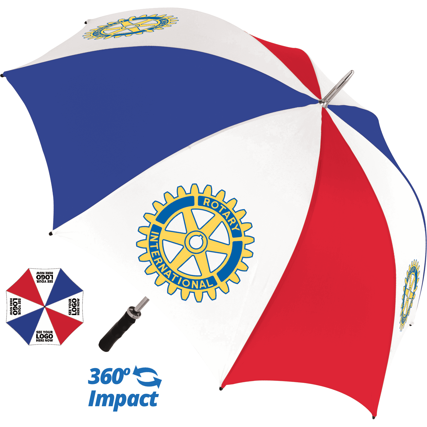 Bedford Golf Promotional Umbrella - 4 Panel Print
