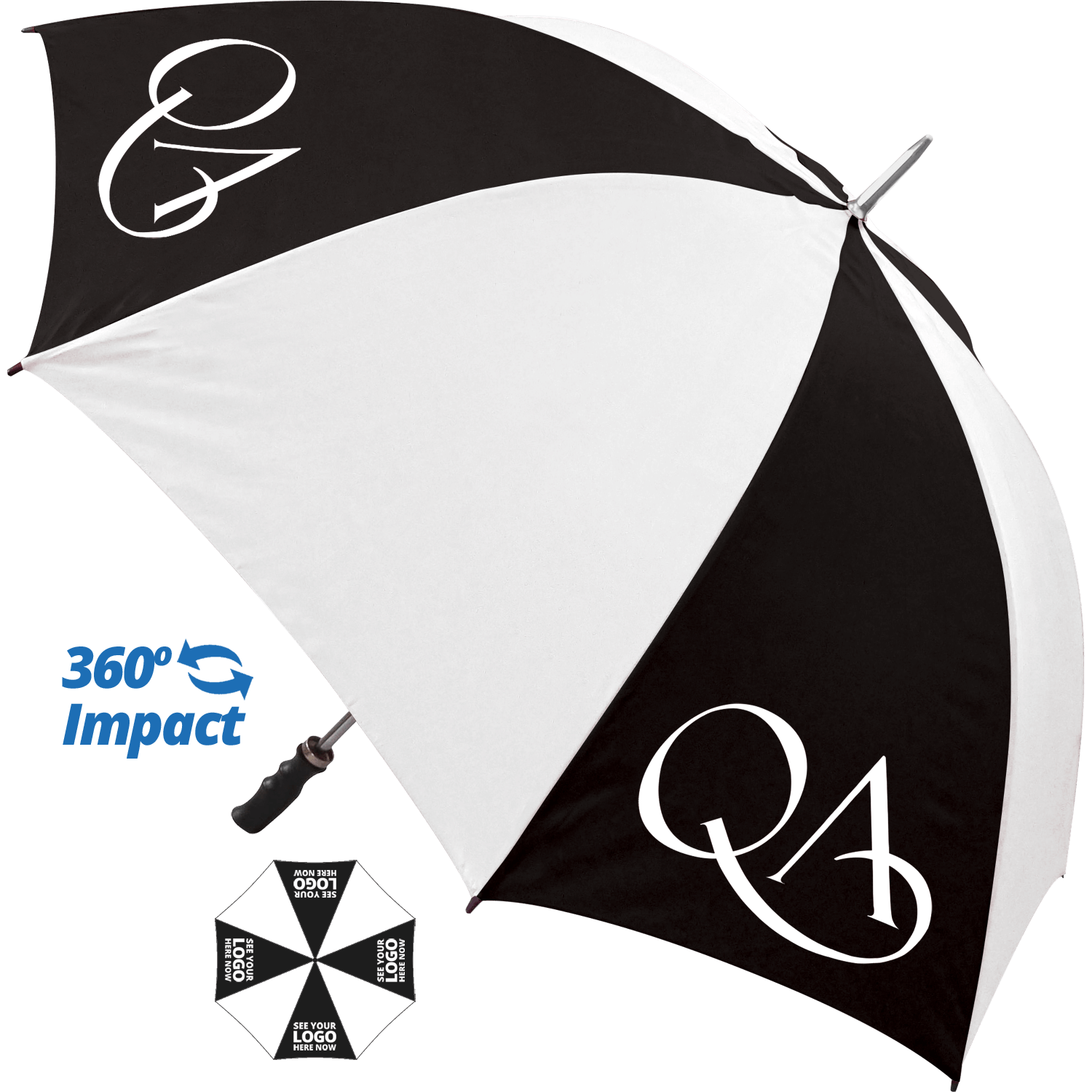 Value Sports Promotional Umbrella - 4 Panel Print