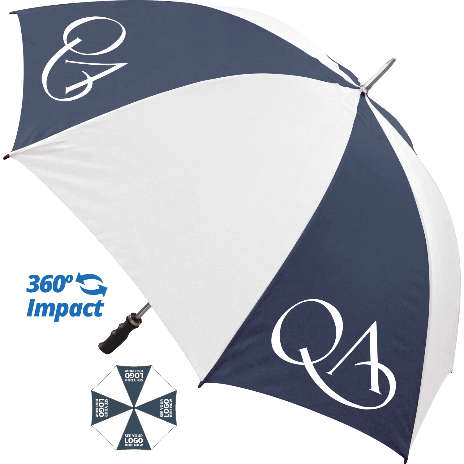 Navy Blue (2379) & White (printed on coloured panels)