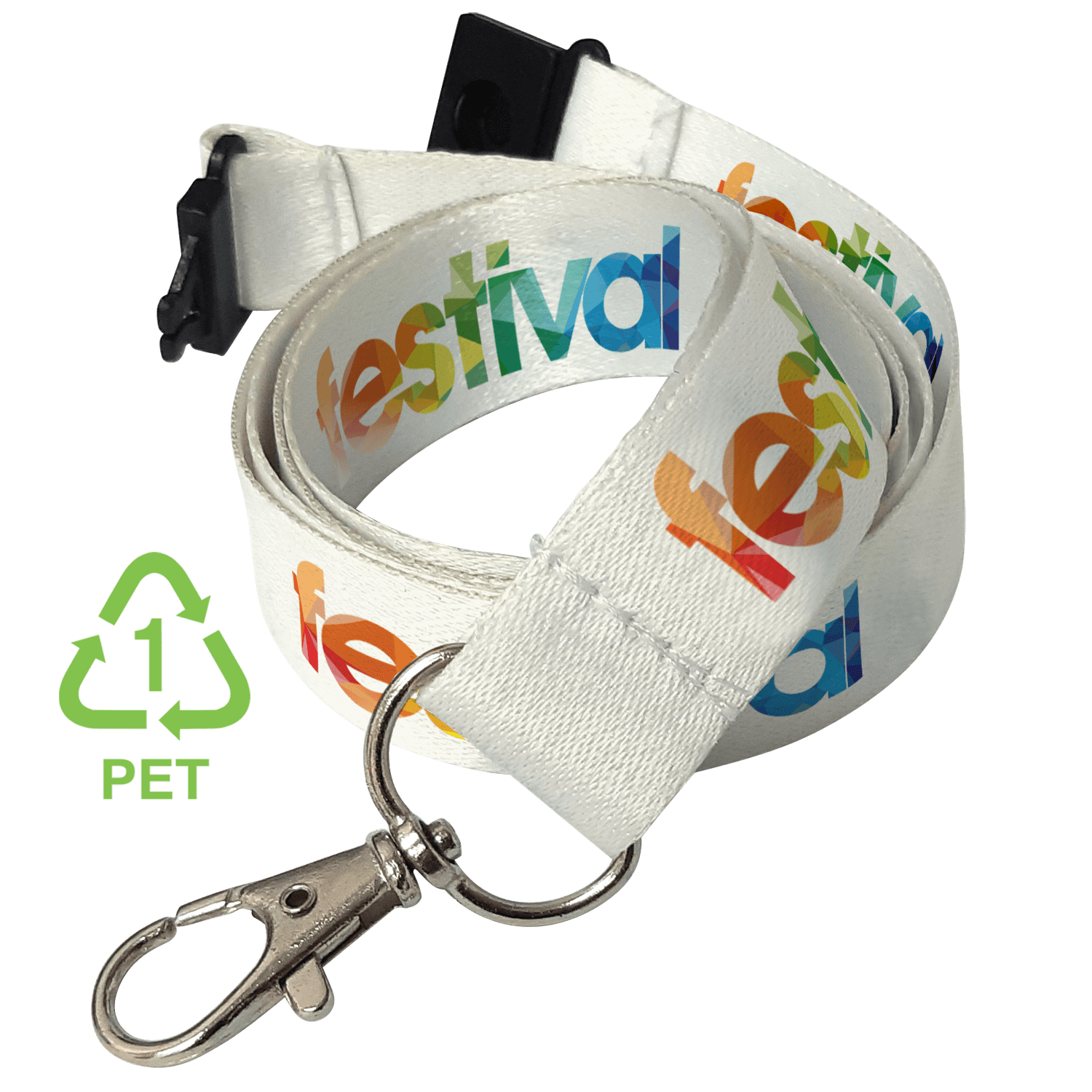 Full Colour Recycled PET Lanyard 20mm