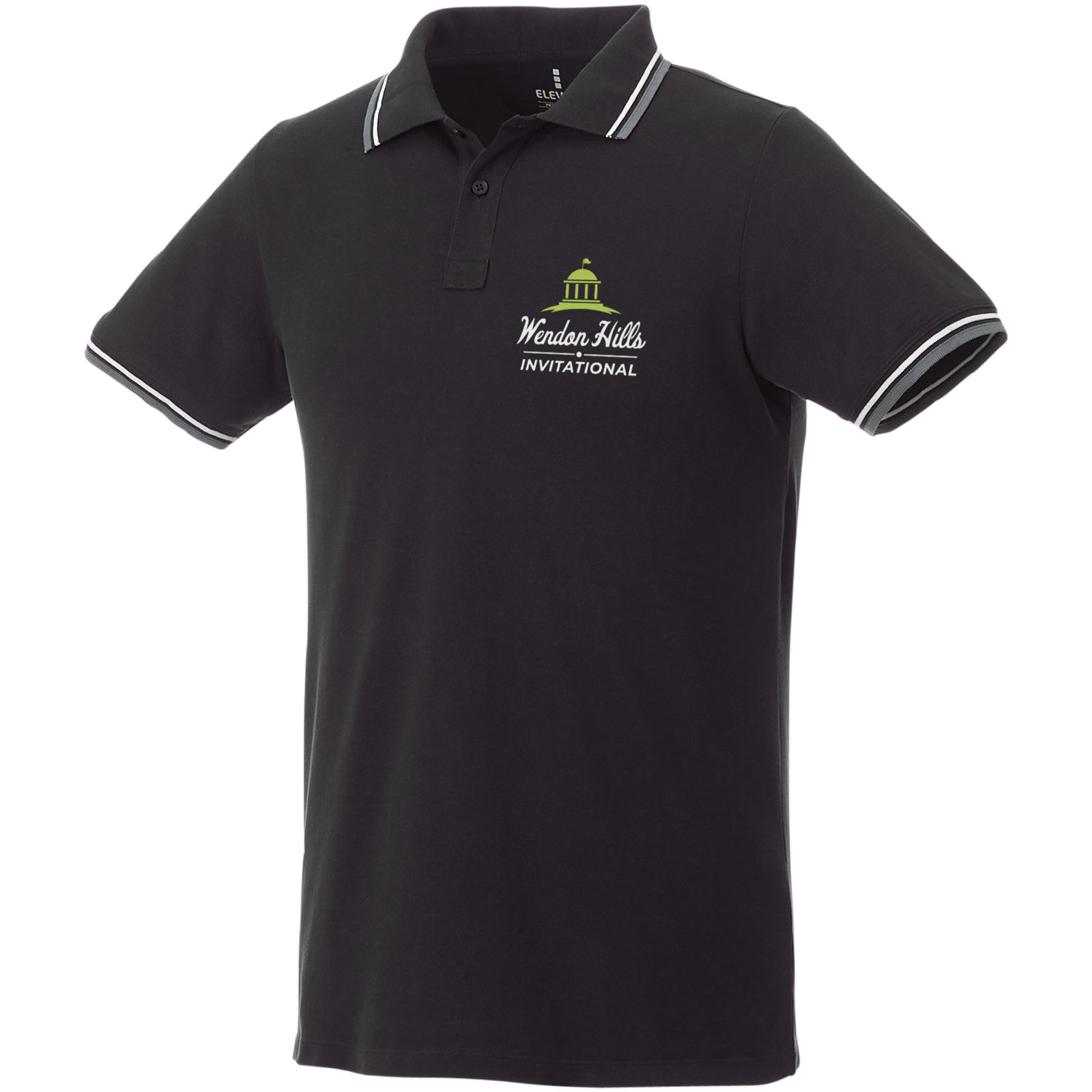 Fairfield Short Sleeve Mens Polo With Tipping