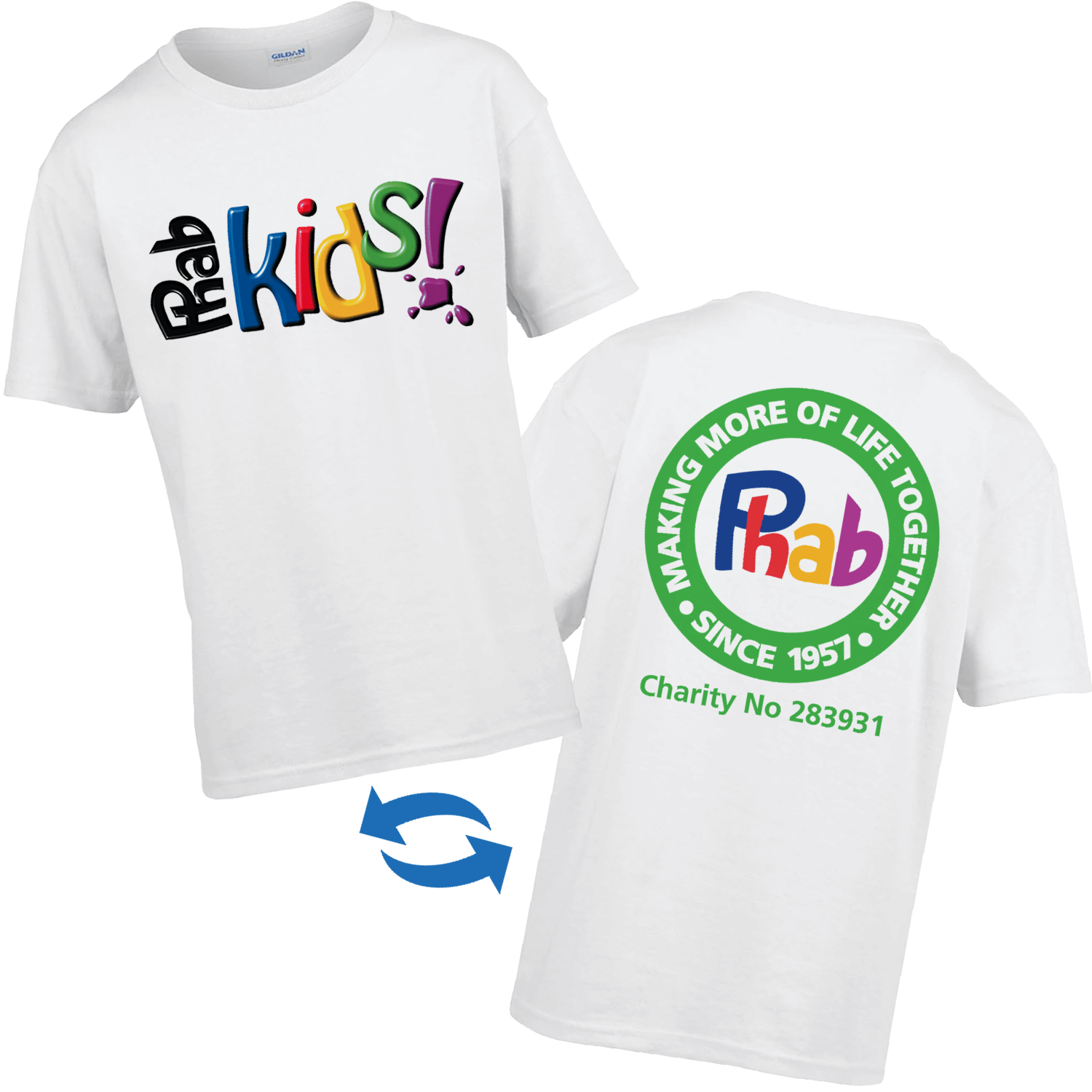 Kids White Full Colour T-Shirt - Front and Back Print