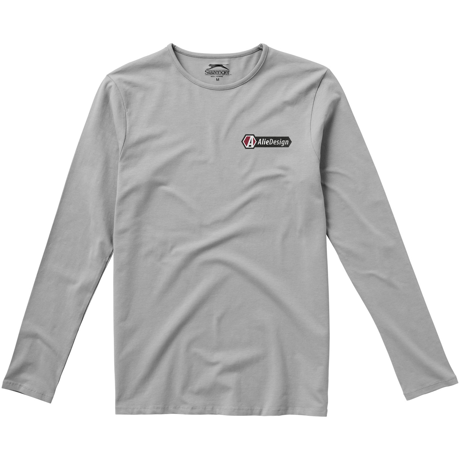 Curve Long Sleeve Mens T-Shirt