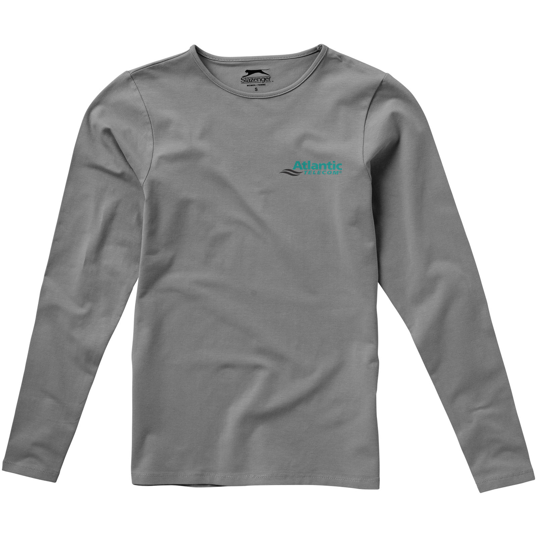 Curve Long Sleeve Womens T-Shirt