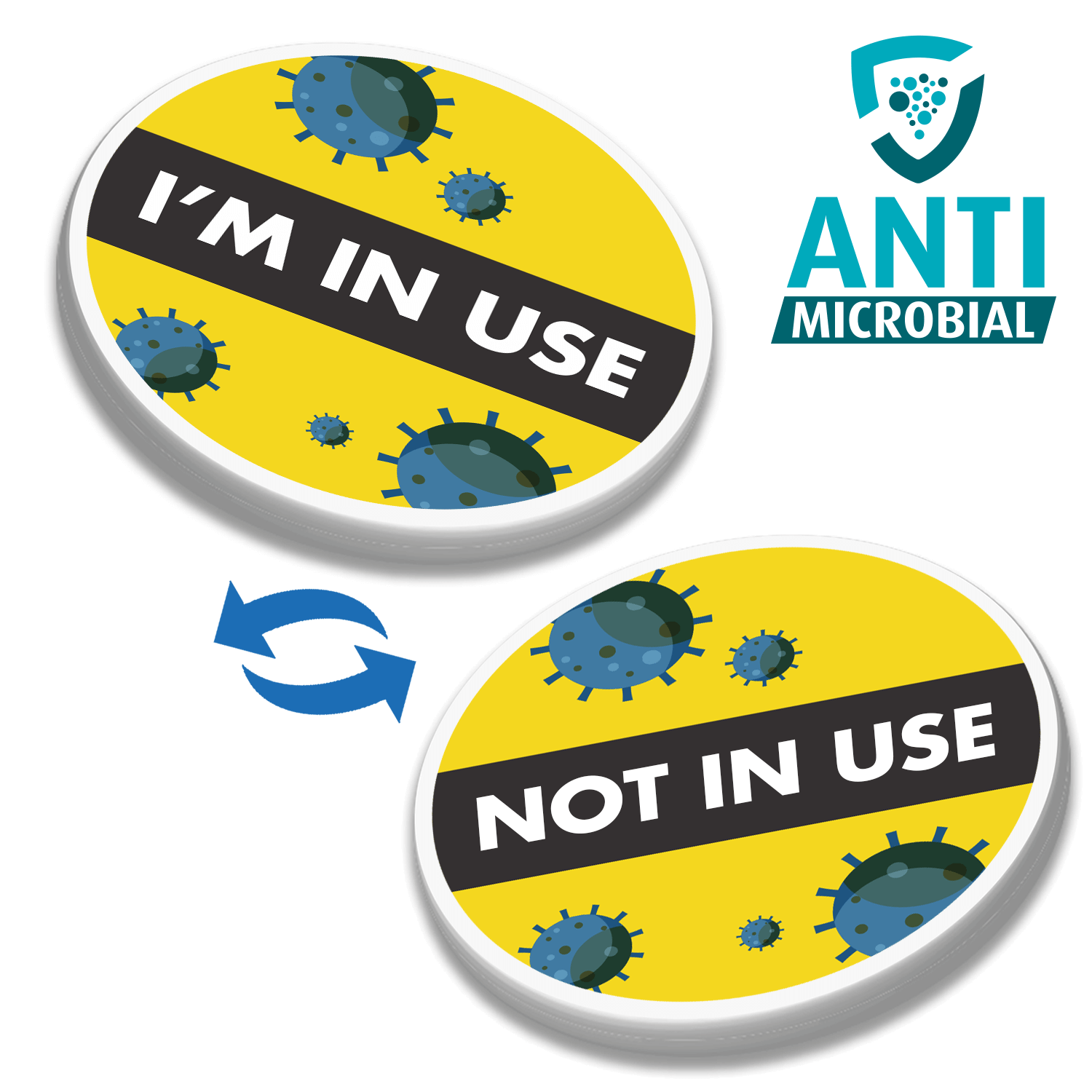 100% Recycled 40mm Antimicrobial Plastic Token - Both Sides
