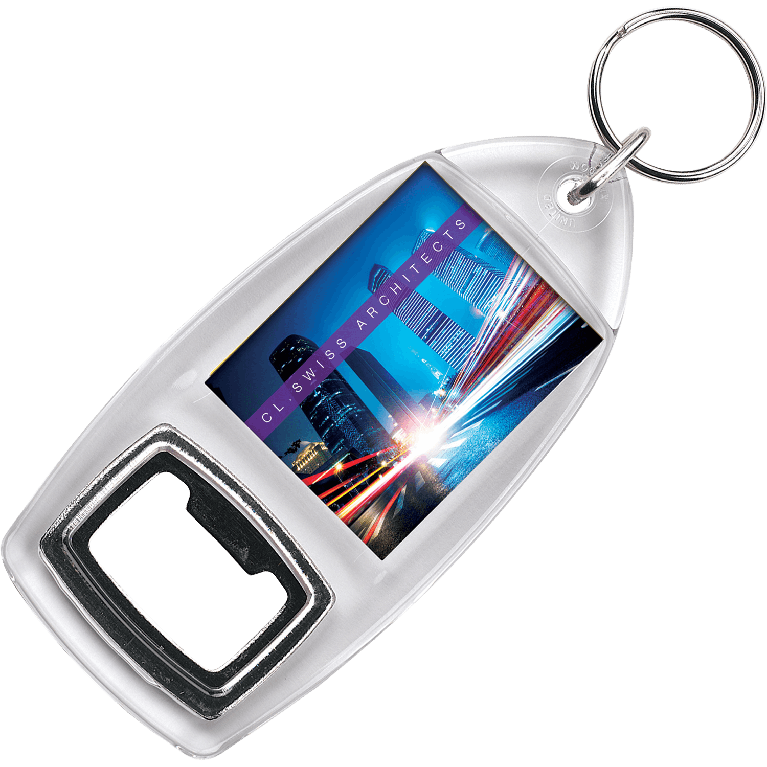 Bottle Opener Printed Keyring