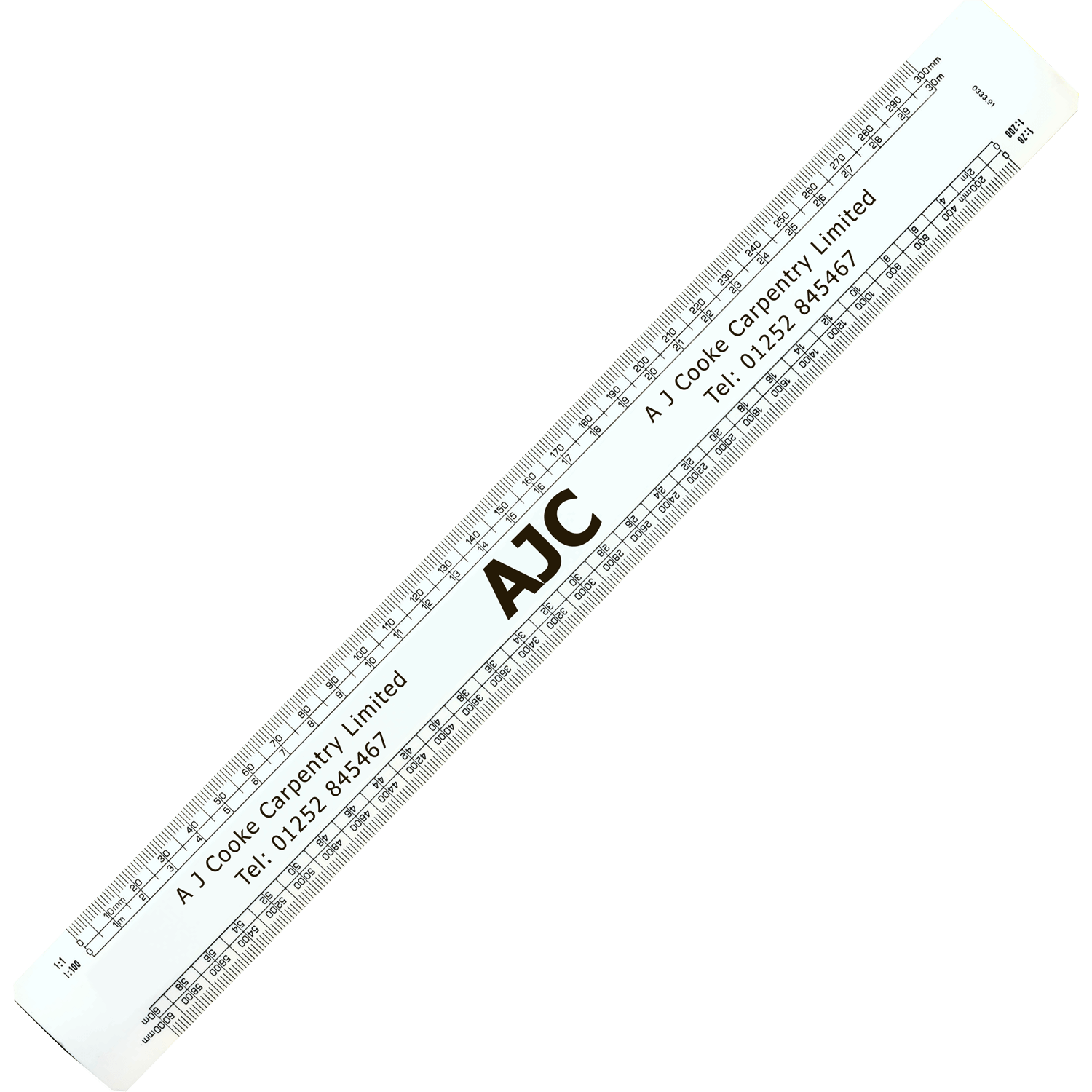 300mm Oval Scale Rule