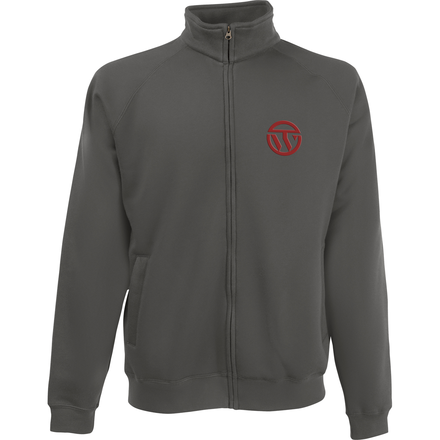 Fruit of the Loom Embroidered Full Zip Sweat Jacket