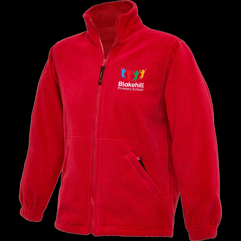 Childrens Uneek Embroidered Fleece Full Zip